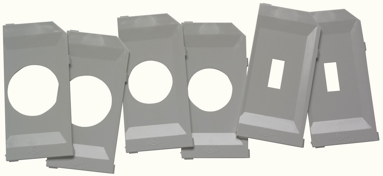 While-In-Use Cover Extra Plate Kit, Gray