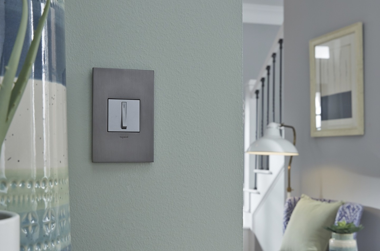 adorne Magnesium Paddle Switch in a home