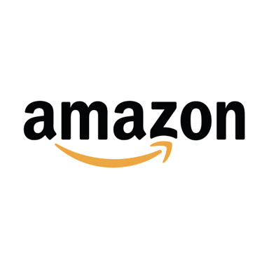 Amazon logo with black text and yellow arrow