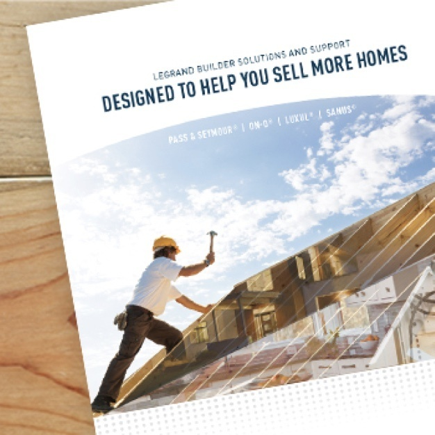 cover of Legrand Builder Support document with man building roof on the front