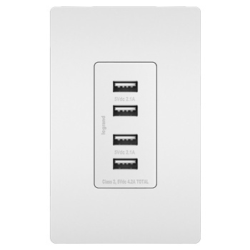 Quad 4-Port Wall Charger with Included tip for The Olympus XZ-1 a Compact Design with flip Out prongs Uses TipExchange Technology to Charge up to Four Devices simultaneously
