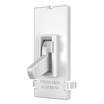 Toggle Slide Dimmer Interchangeable Color Change Kit, White