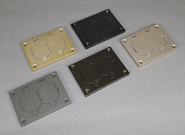 Powder-Coated Aluminum Duplex Cover Plate, 828R-TCAL