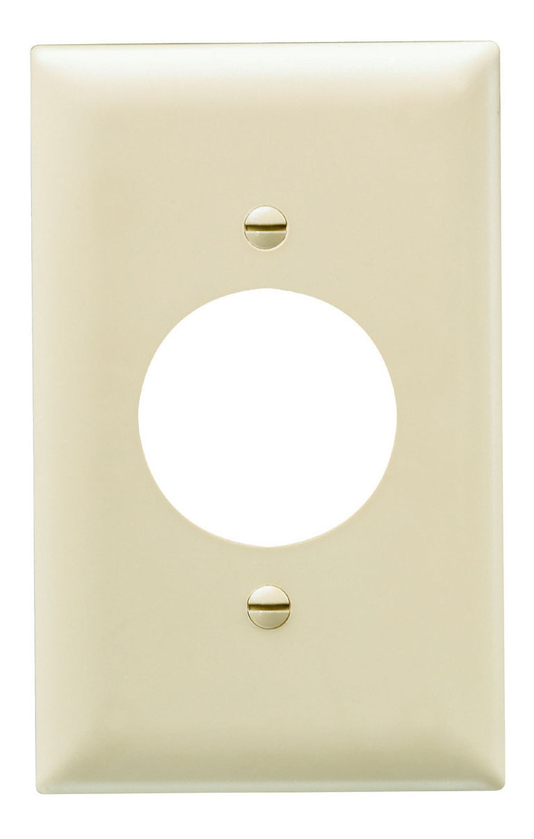 Power Outlet Receptacle Openings, One Gang, Ivory