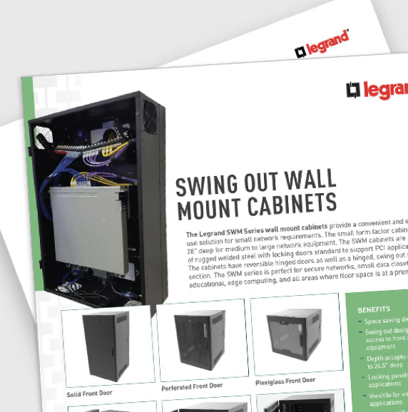 Data sheet for swing out wall mount cabinets from legrand