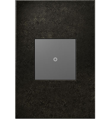 adorne 1-Gang Dark Burnished Pewter Wall Plate