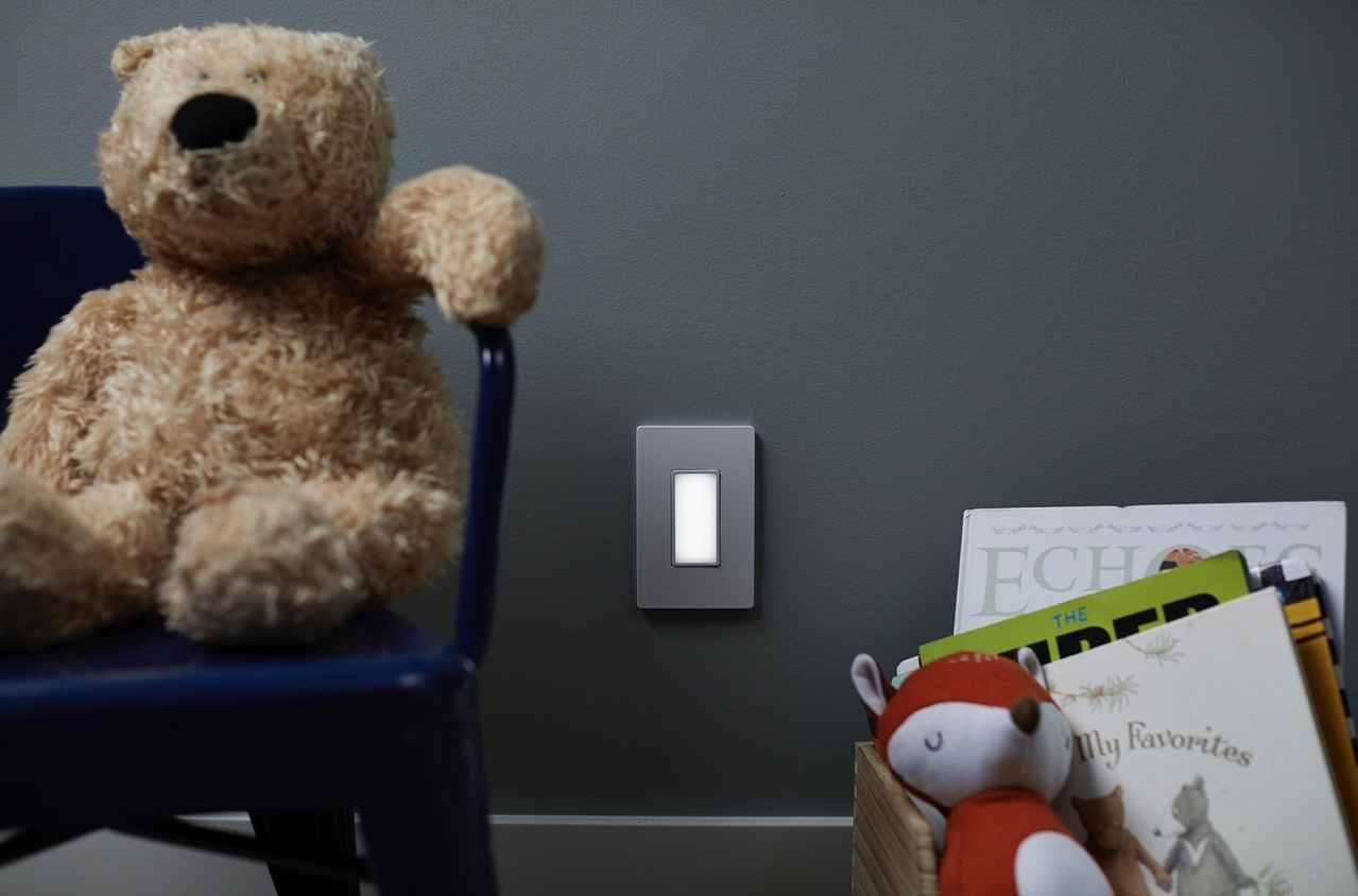 radiant Collection by Legrand in-wall night light in child's bedroom