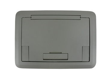 Surface Style Cover With Solid Lid Gray Powder Coated Finish, EFB45BTCGY