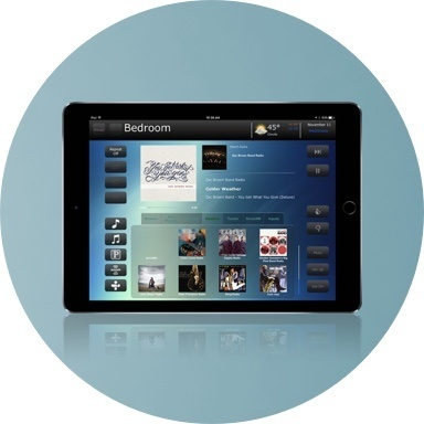 Nuvo player portfolio app on an iPad