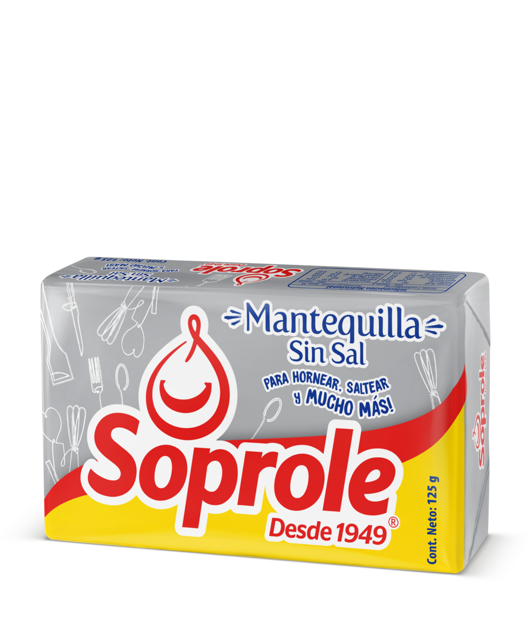 Soprole Mantequilla Pan sin Sal 125g