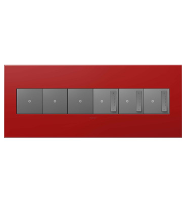 adorne 6-Gang Cherry Wall Plate