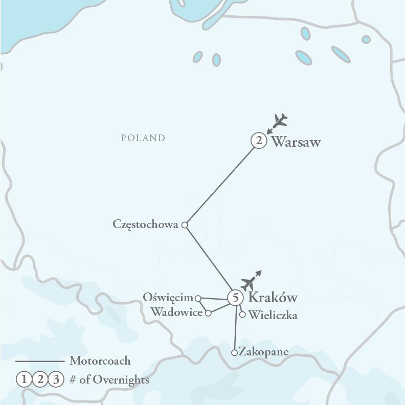 Tour Map for Portrait of Poland