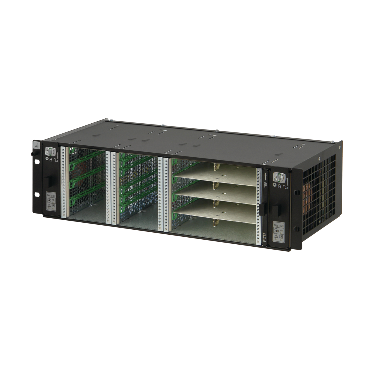 Image for MicroTCA.0  3 U system, for 2 single and 4 double (8 single) full-size AdvancedMC modules from nVent SCHROFF | Europe, Middle East, Africa and India