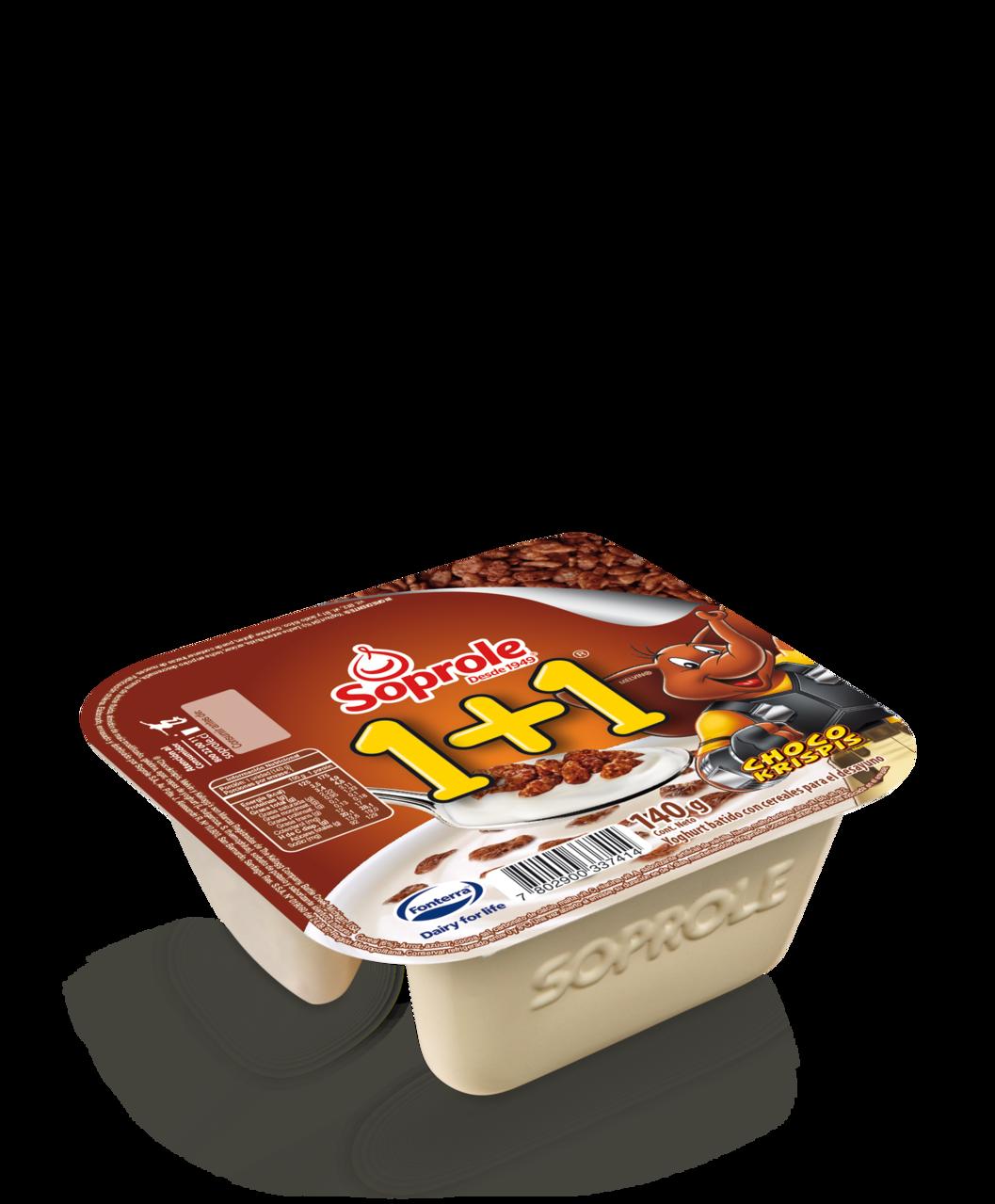 Soprole Yoghurt 1+1 sin cuchara Chocokrispis