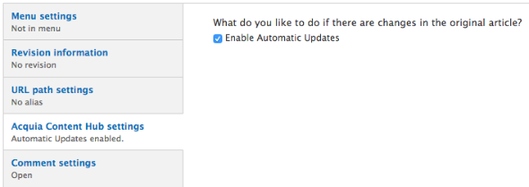 Enable automatic updates for your subscribers