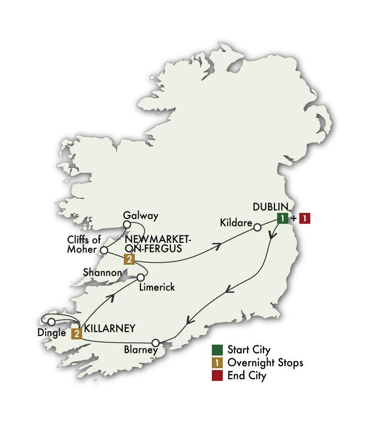 2021 Best of Ireland South (Tour C) - 7 Days/6 Nights