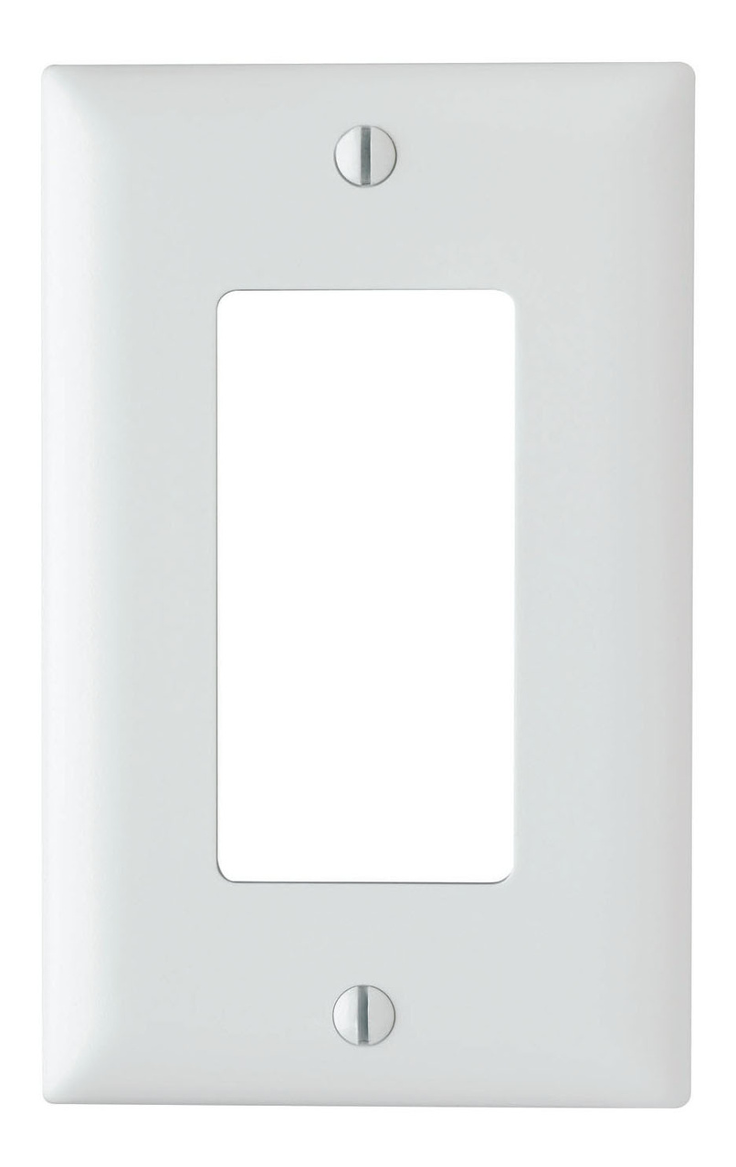Decorator wall plate, single gang, white