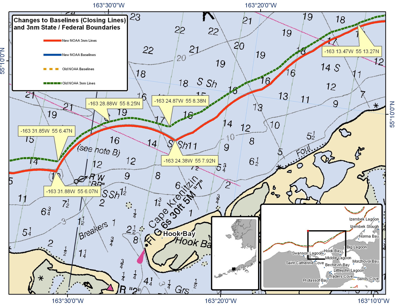 Chart for Hook Bay