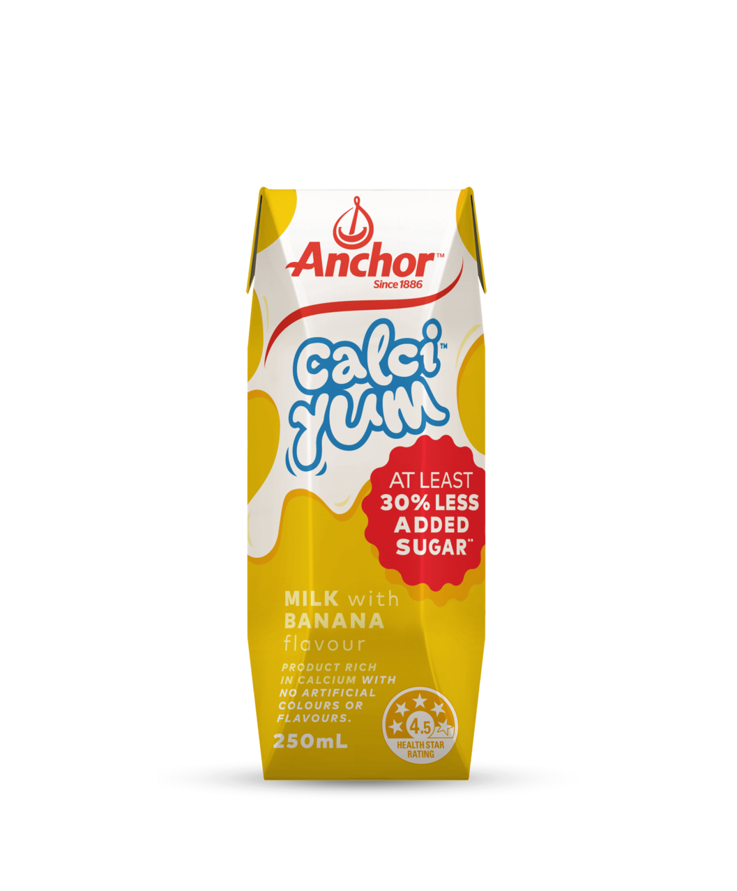 Anchor CalciYum Banana Milk 250mL pack