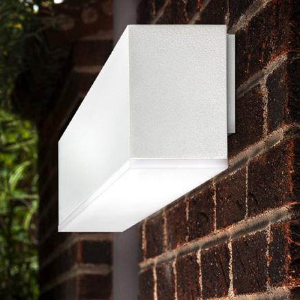 White Pinnacle Light on brick wall