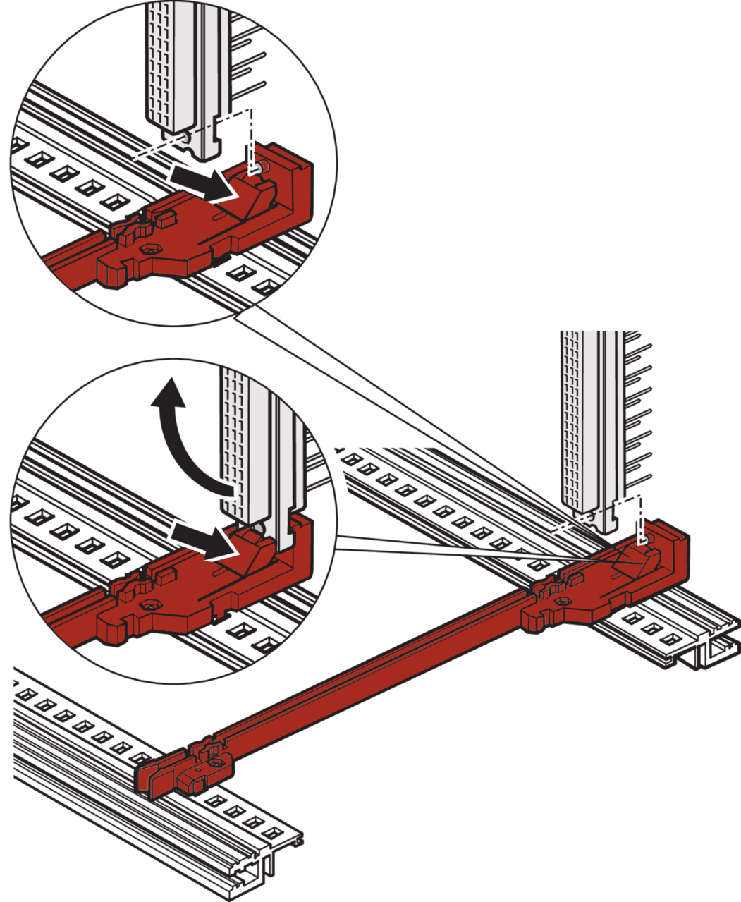 Image for Guide rails, one-piece, for