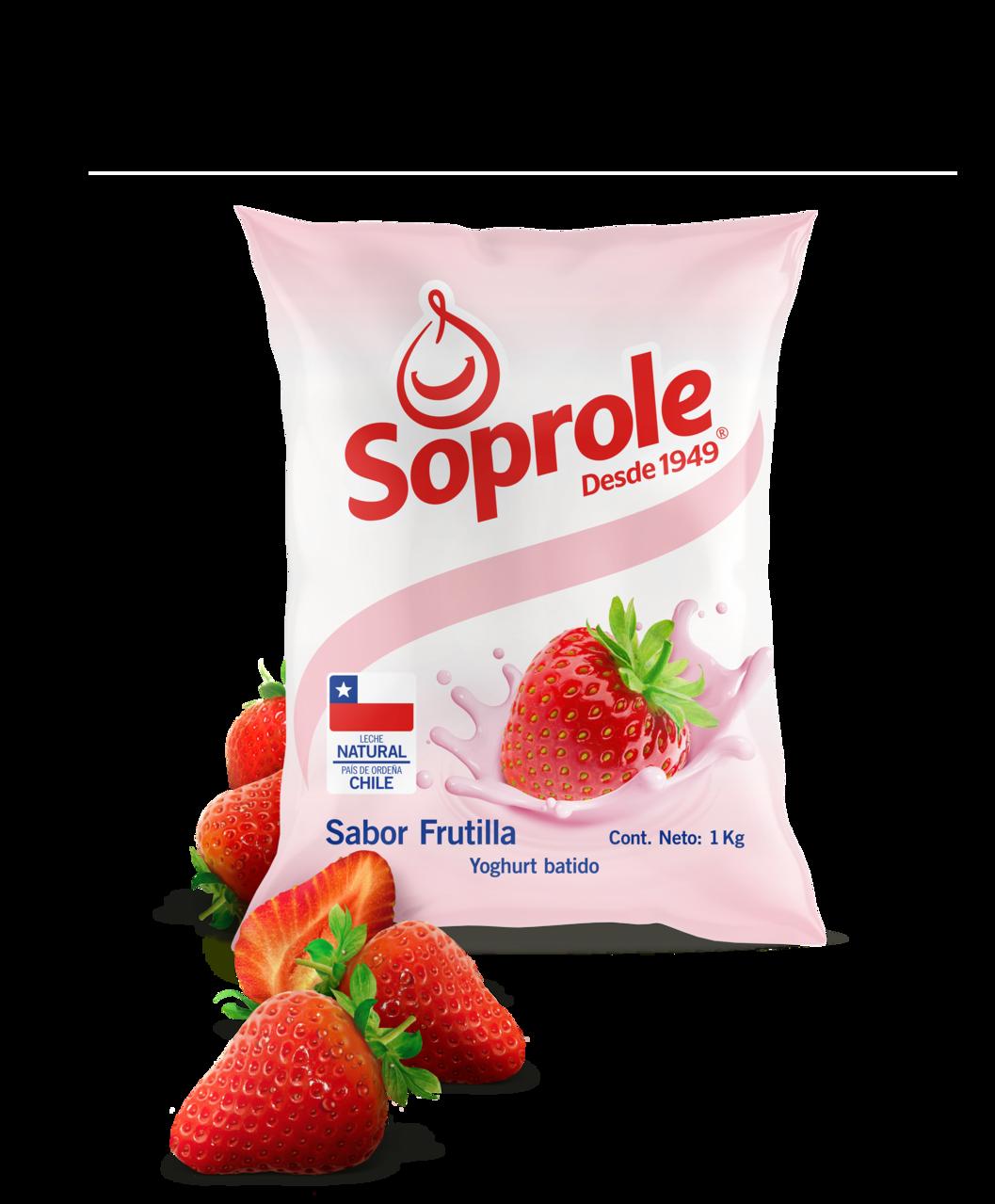 Soprole Yoghurt sabor Frutilla 1L