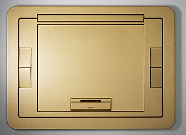 Evolution Flush Style Cover w/Carpet Insert-Brass, EFB610CTBS