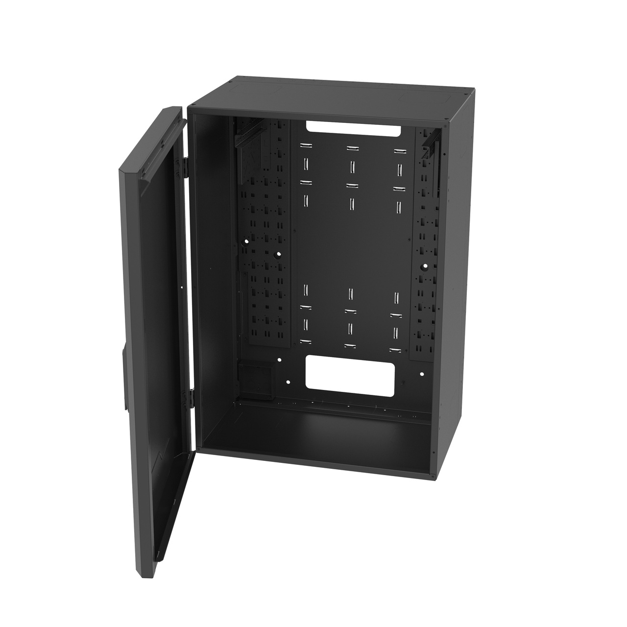 vertical wall mount full door open
