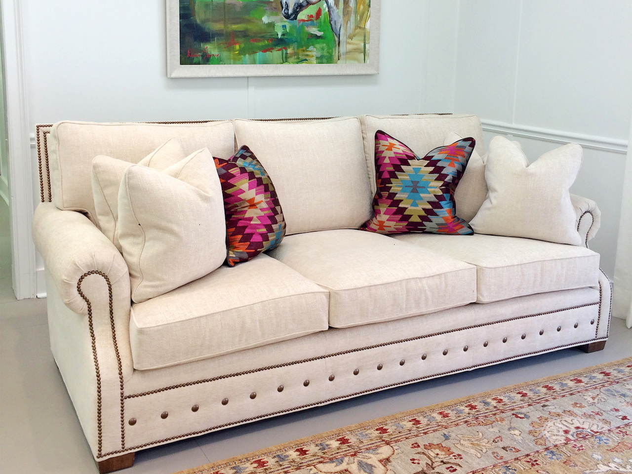 White couch StyleBlueprint Atlanta
