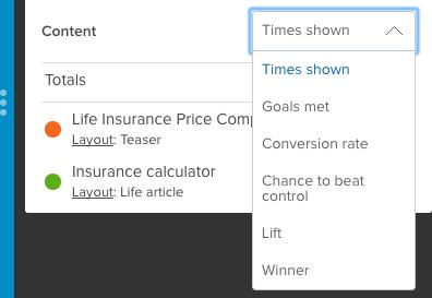 Lift content filter menu