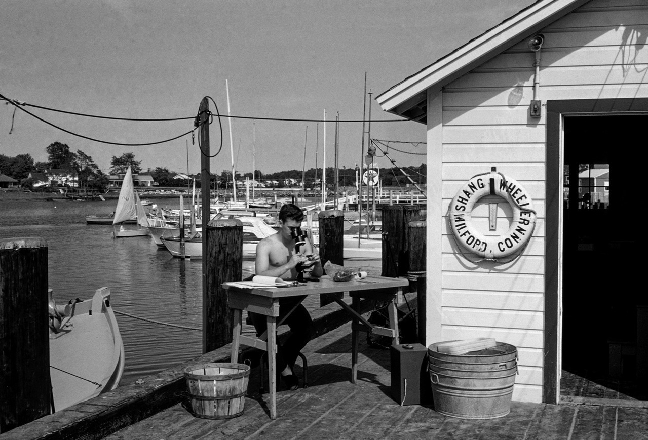 historical photo of Milford lab