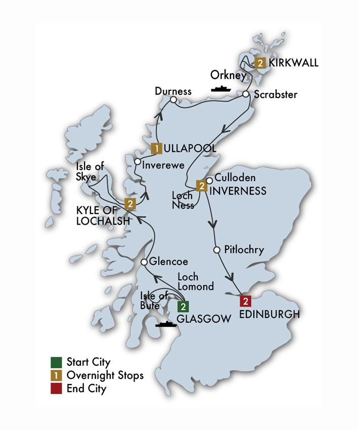 Scottish Isles & Glens - 12 Days/11 Nights