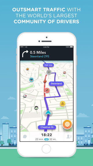 Never wait in traffic again thanks to Waze. Unless, of course, you live in Atlanta. Then you really have no options.