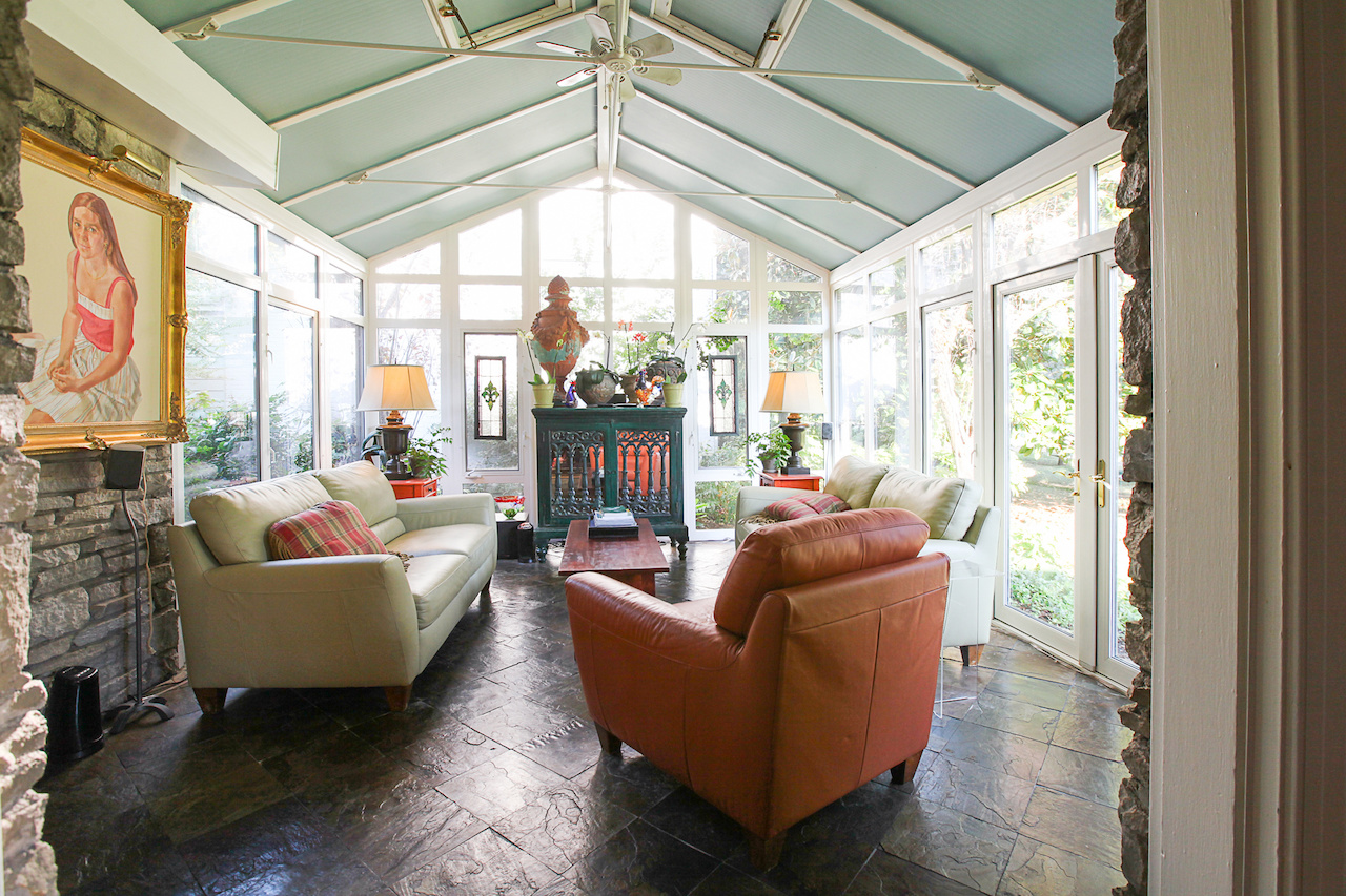 The sunroom is the room guests tend to love the most.