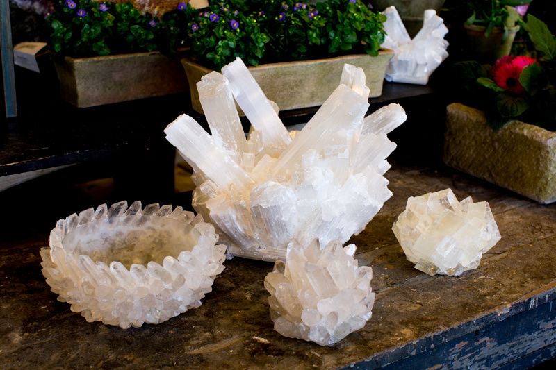 A quartet of quartz accessories from The Garden District