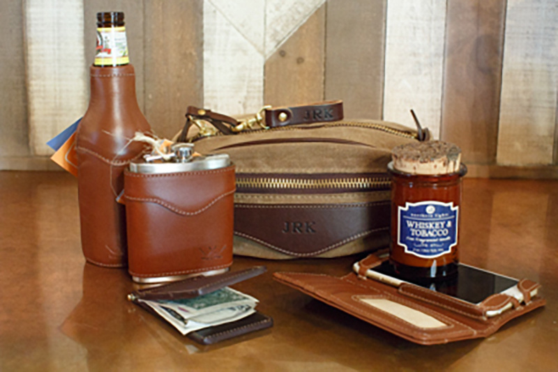 Leather accessories from Southern Avenue Company range from $19.99 to $70.