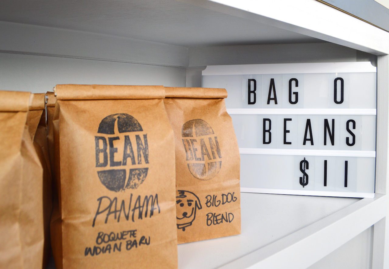 Pick up a bag of your favorite Bean coffee, roasted in-house by owner Billy Seckman.