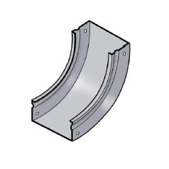 Fiber Trough Vertical 90 Degree Inside Elbow Base, FTVI90