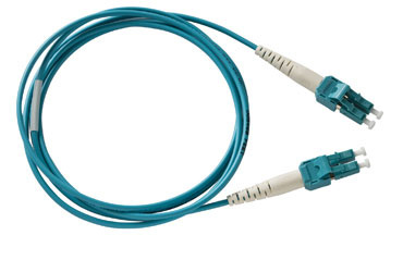 Spacesaver Patch Cord, Multimode, 50/125, PC/OFNR, A-A, 1 meter, Aqua, OR-P1RF6LPAZAZ001M