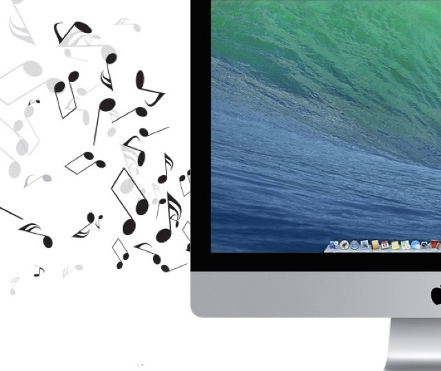 Music notes coming out of Mac