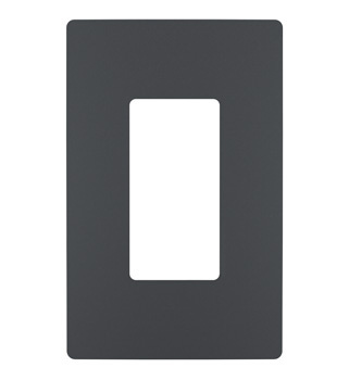 One-Gang Screwless Wall Plate, Graphite