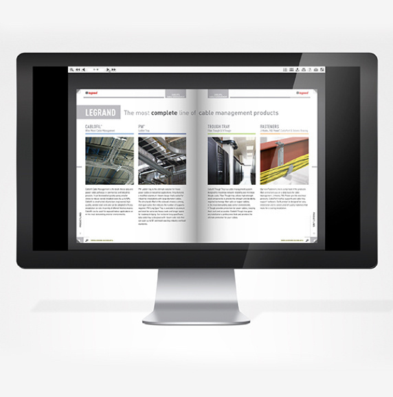 Monitor with Cablofil's Online Catalog