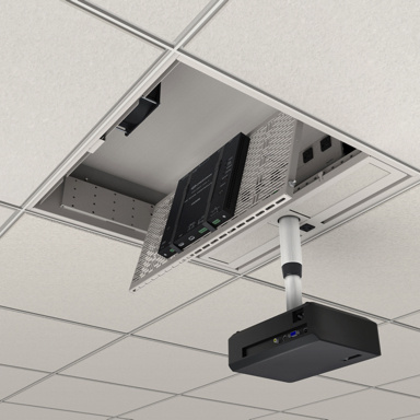 Ceiling box with projector