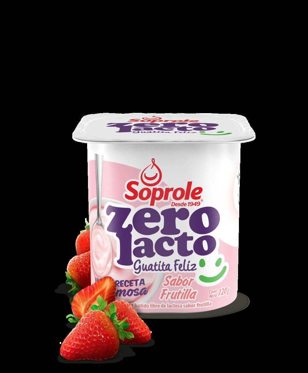 Soprole Zerolacto Yoghurt Batido sabor Frutilla