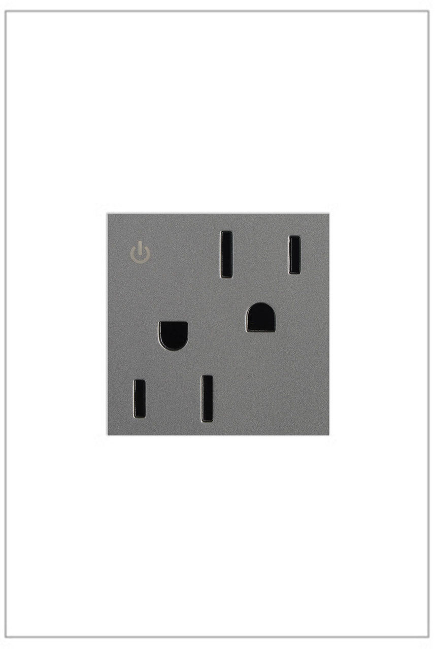 Dual Controlled Outlet, 15A, Magnesium
