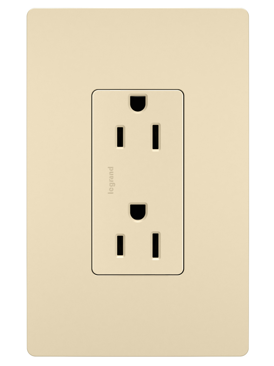Self-Grounding Duplex Receptacle, Ivory