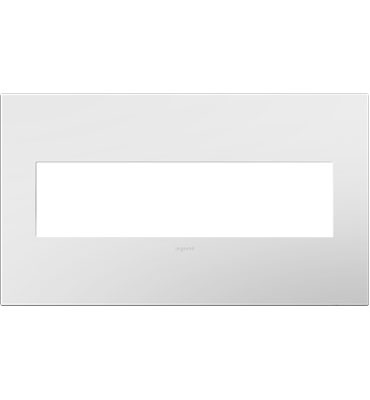 adorne 4-Gang White Wall Plate