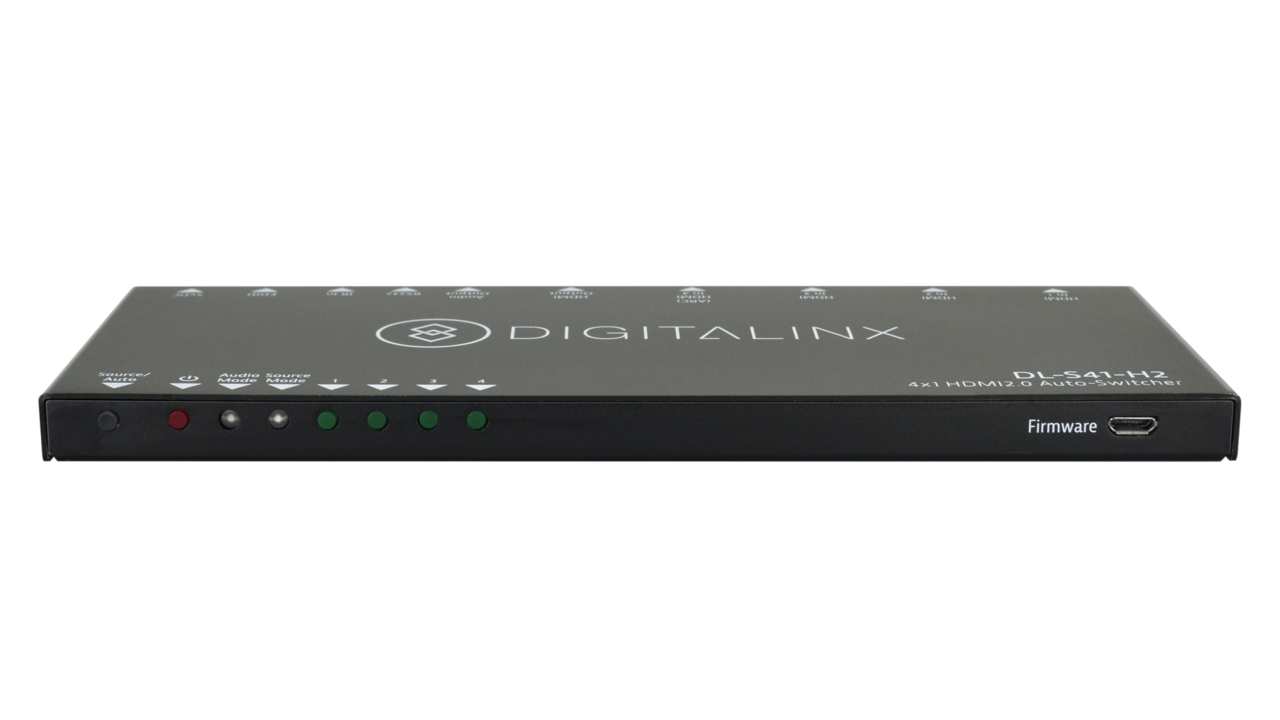 DL-S41-H2 - Digitalinx 4x1 HDMI 2.0 Super Slim Auto-switcher