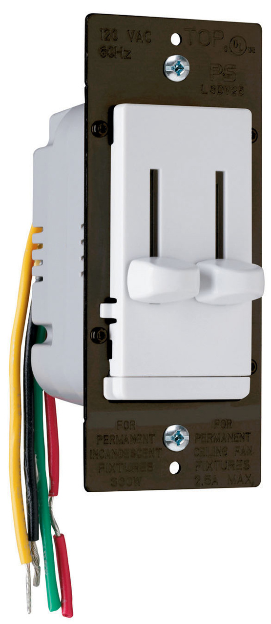 LS Series Dual Fan Speed Control/Dimmer, LSDC16WV