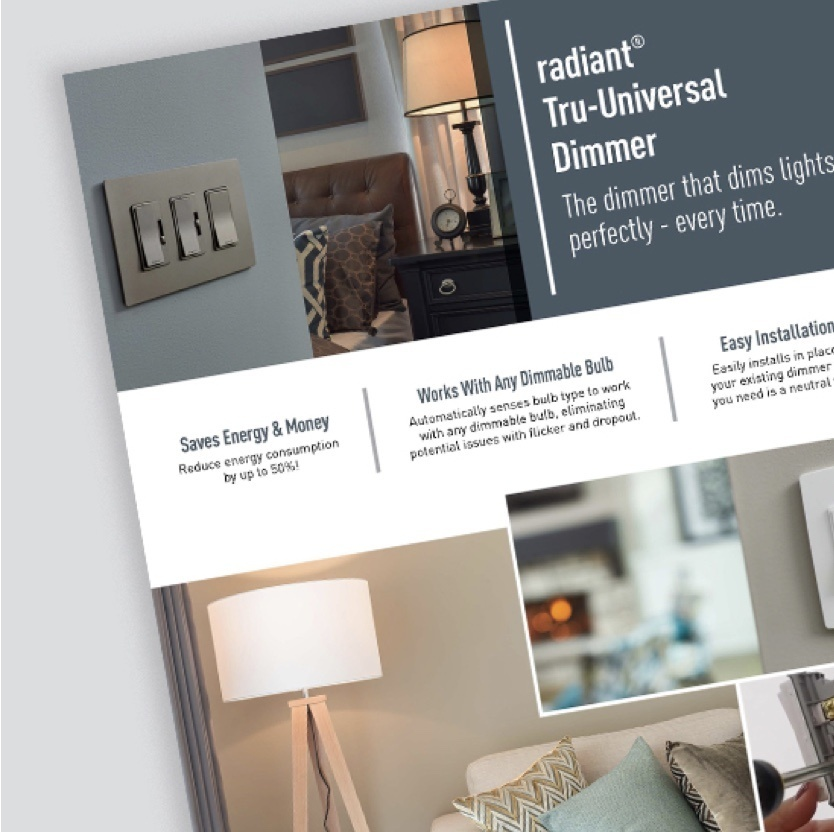 radiant Collection Tru-Universal dimmer style guide